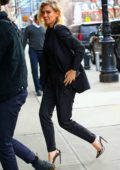 Vanessa Kirby seen wearing blue blazer suit while out in New York City