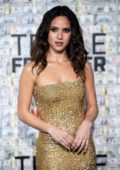 Adria Arjona attends 'Triple Frontier' premiere in New York City