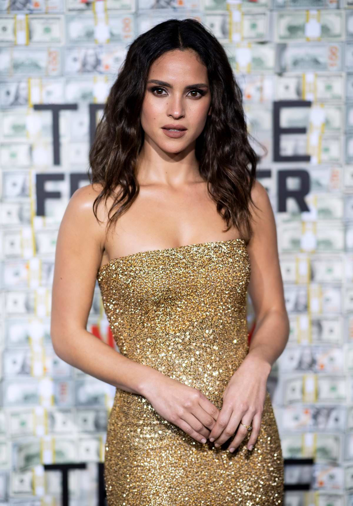 Adria Arjona attends 'Triple Frontier' premiere in New York City