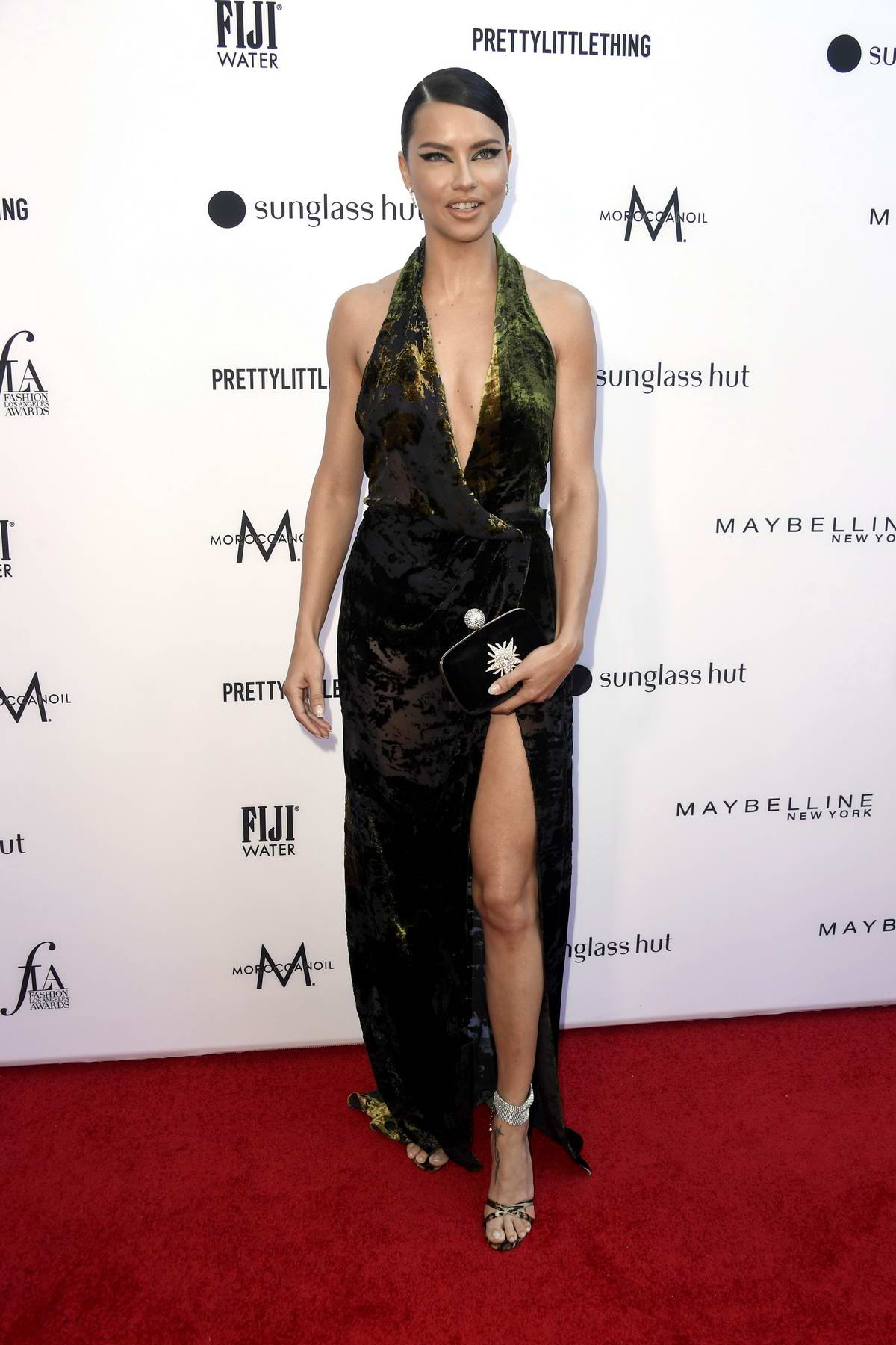 Adriana Lima attends The Daily Front Row's 5th Annual Fashion Awards at The Beverly Hills Hotel in Los Angeles