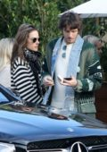 Alessandra Ambrosio and Nicolo Oddi leaves after lunch with Brooke Burke Soho House in Malibu, California