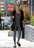 Alessandra Ambrosio leaves the gym with Nicolo Oddi after a weekend pilates session in Los Angeles