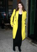 Alexandra Daddario arrives at the DKNY Sports event at MILK Studios in New York City