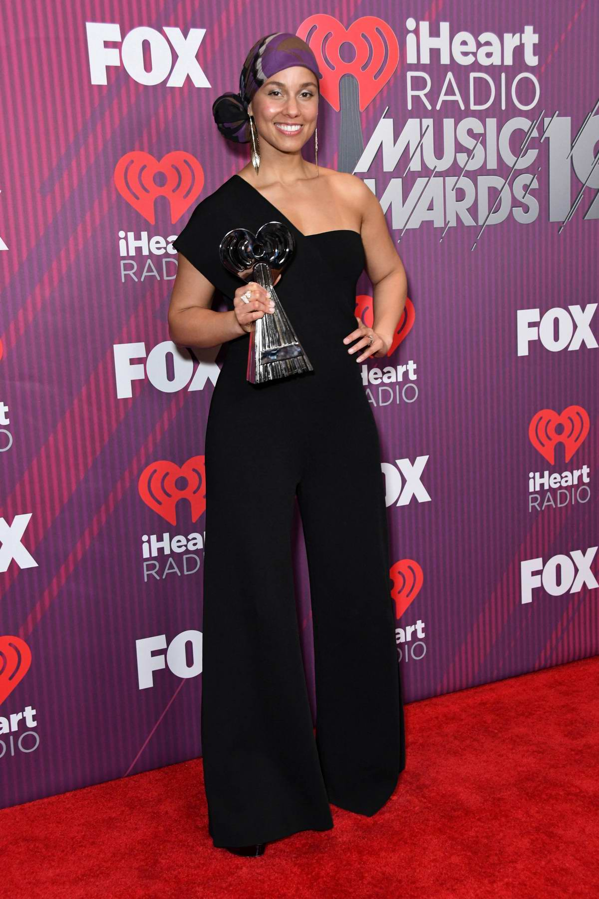 Alicia Keys attends the 2019 iHeartRadio Music Awards at Microsoft Theater in Los Angeles