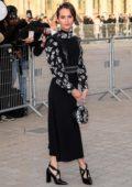 Alicia Vikander attends the Louis Vuitton show during Paris Fashion Week F/W 2019/20 in Paris, France