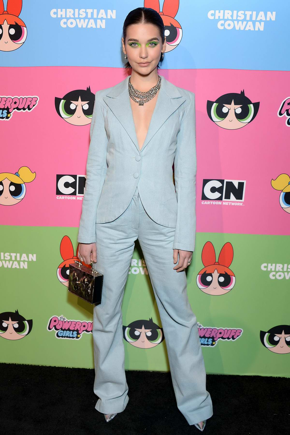 Amanda Steele attends Christian Cowan x Powerpuff Girls Runway Show in Los Angeles