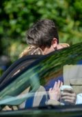 Amber Heard and Andy Muschietti share a kiss as they leave her house in Los Angeles