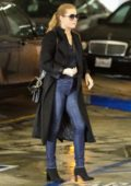 Amy Adams makes a quick trip to Whole Foods on a rainy day in Beverly Hills, Los Angeles