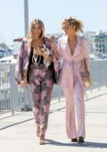 AnnaLynne and Rachel McCord enjoys lunch in Marina Del Rey, California