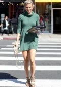 AnnaLynne McCord steps out in a short green dress in Los Angeles