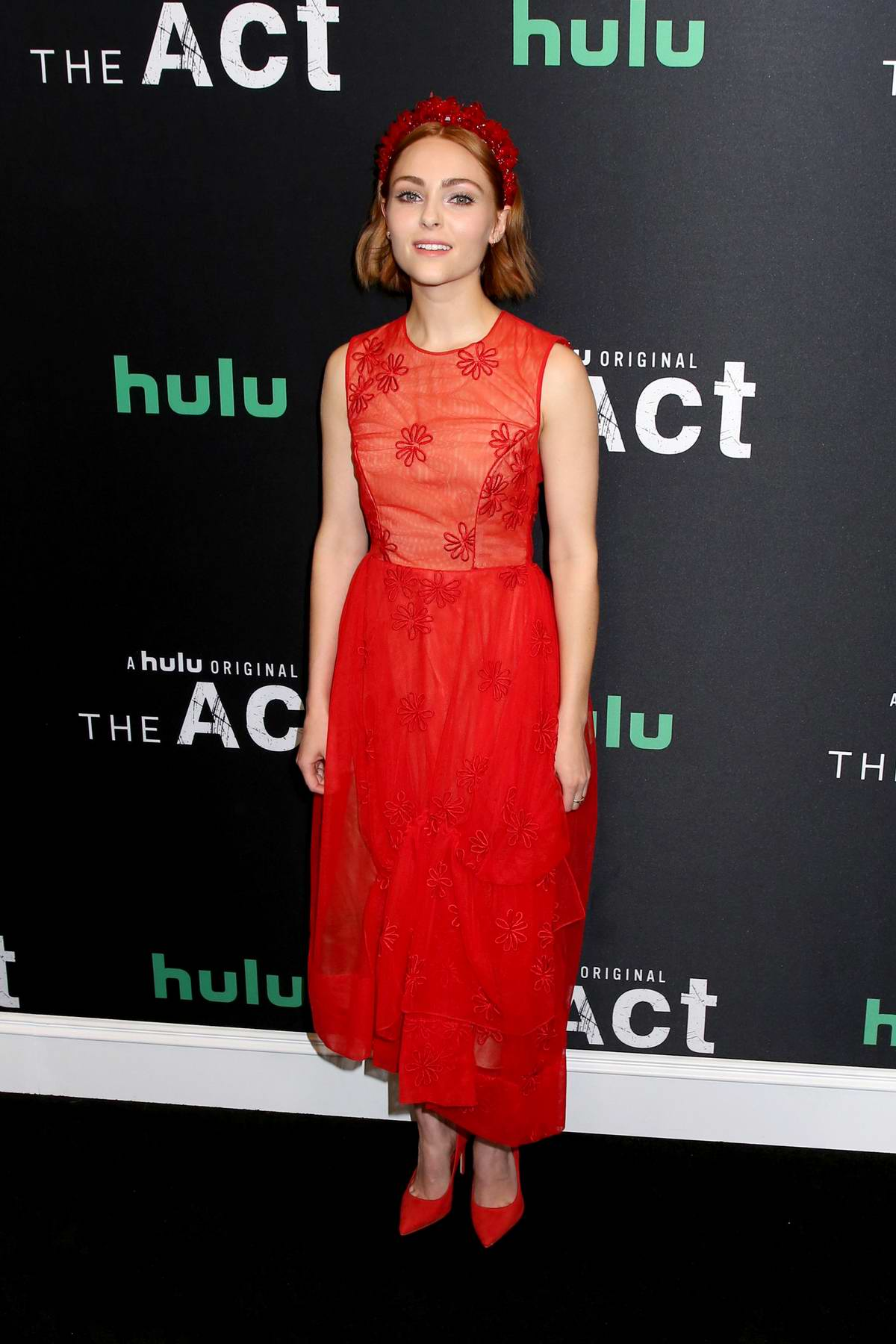 AnnaSophia Robb attends HULU's Season Premiere of 'The Act' in New York City