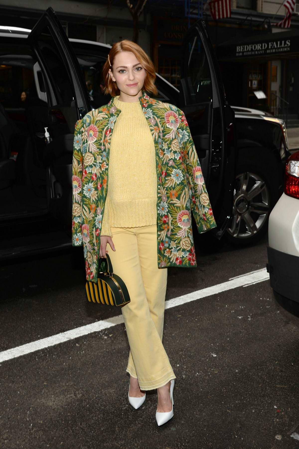AnnaSophia Robb makes an appearance on Good Day New York in New York City