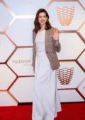Anne Hathaway attends the Hudson Yards VIP Grand Opening Event in New York City