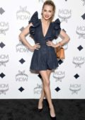 Anne Winters attends the MCM Global Flagship Store Grand Opening On Rodeo Drive in Beverly Hills, Los Angeles