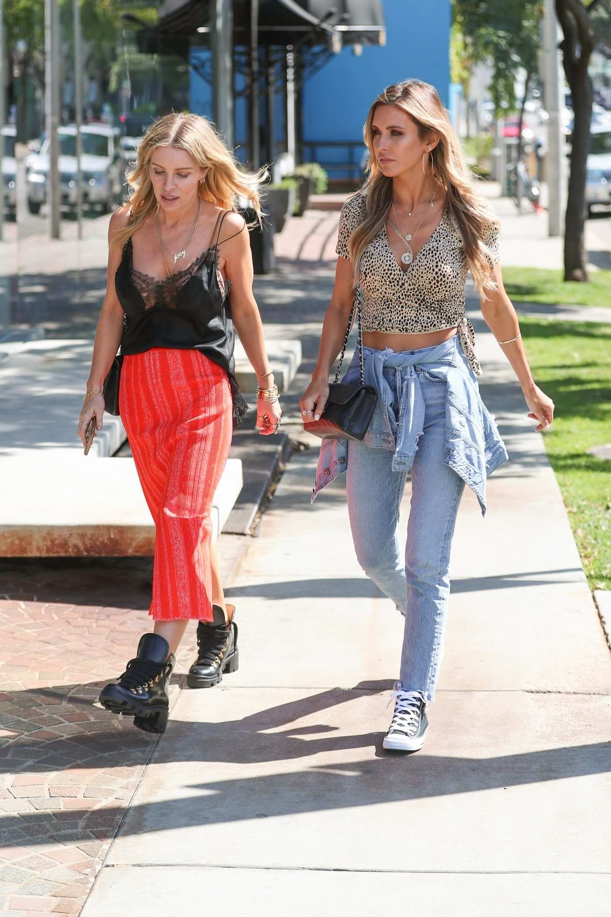Audrina Patridge films 'The Hills' reboot at Couture Kids in West Hollywood, Los Angeles