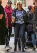 Bebe Rexha grabs an iced coffee from Starbucks while out in New York City