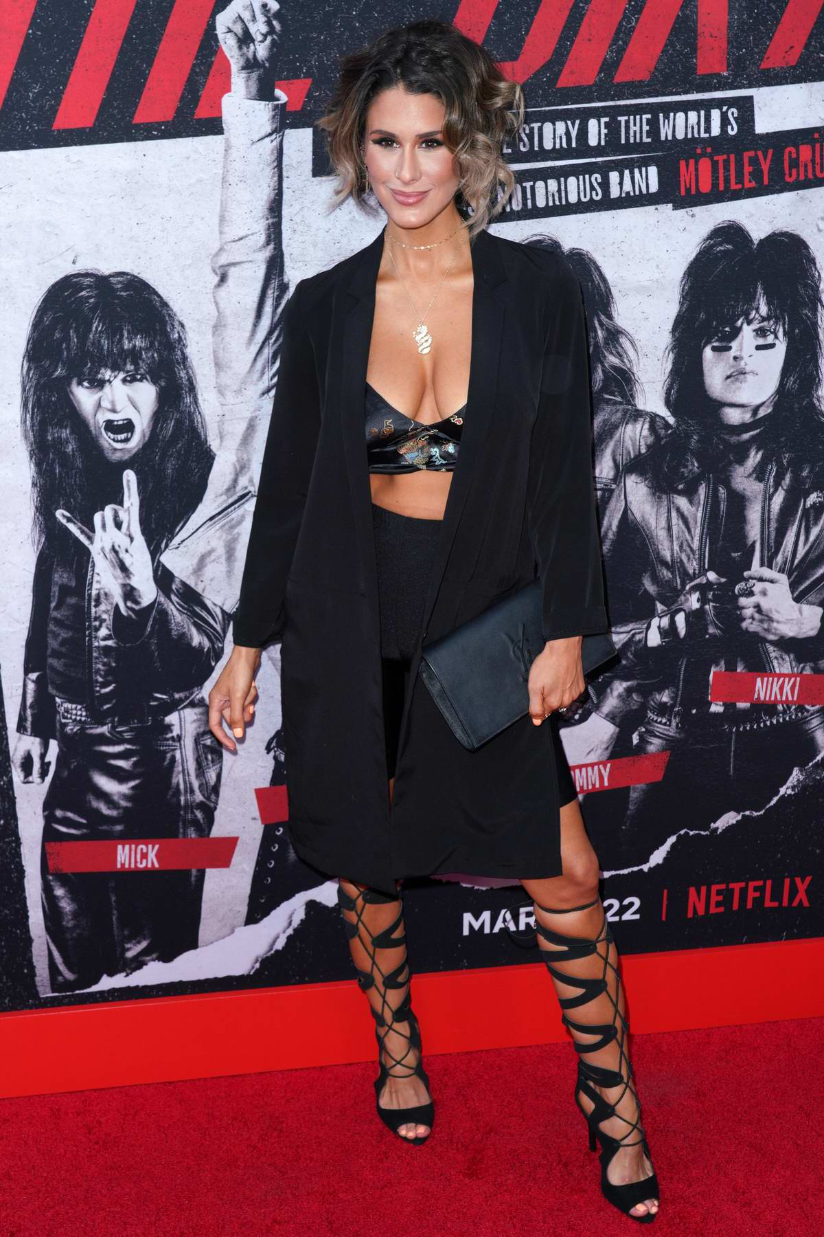 Brittany Furlan attends the World Premiere of 'The Dirt' at ArcLight Hollywood in Los Angeles