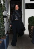 Camila Cabello spotted in all black as she leaves Madeo restaurant in Beverly Hills, Los Angeles