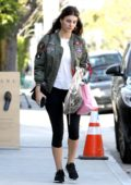 Camila Morrone stops by to pickup some samples from the Amanu Studio in Los Angeles