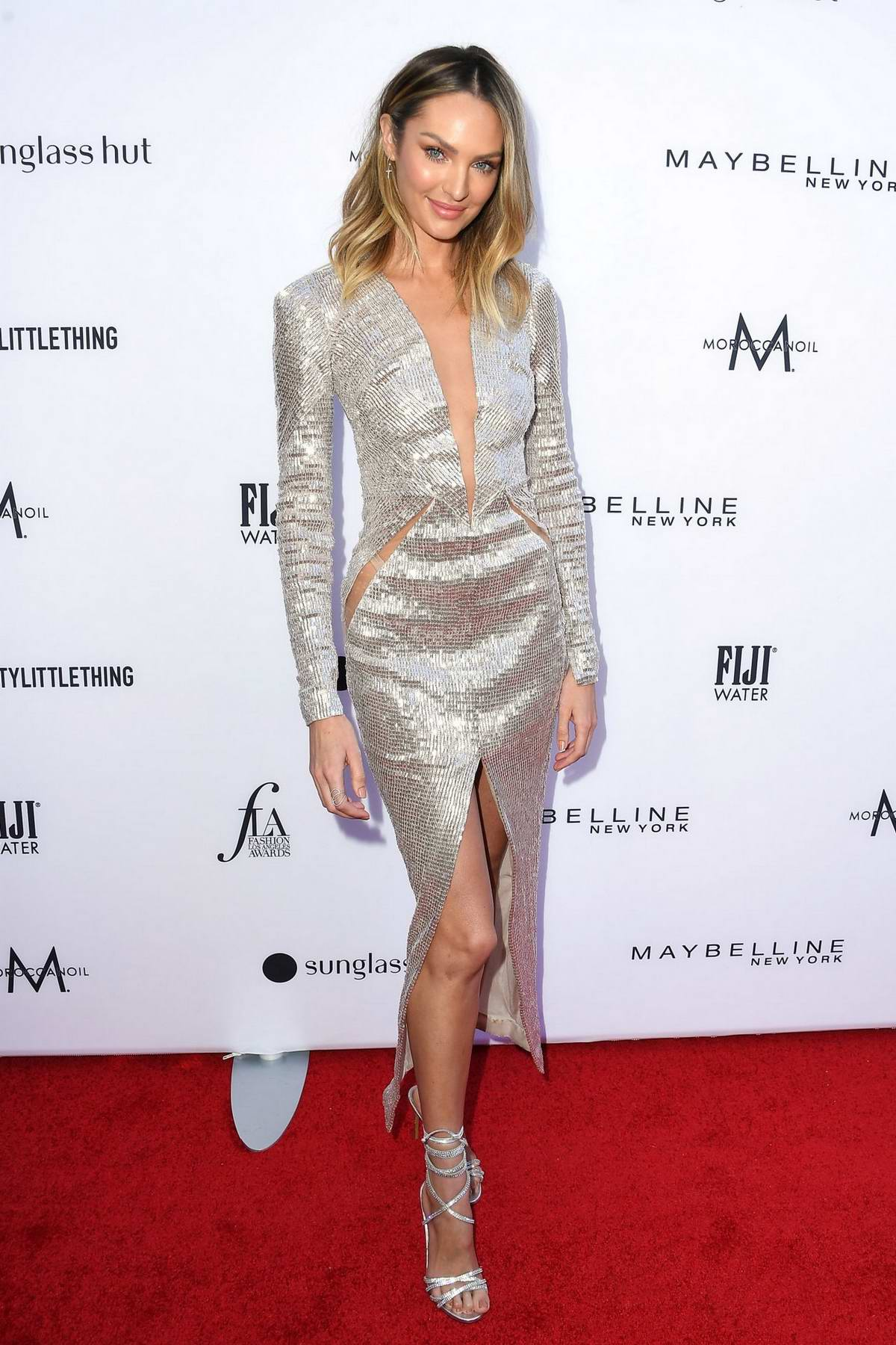 Candice Swanepoel attends The Daily Front Row's 5th Annual Fashion Awards at The Beverly Hills Hotel in Los Angeles