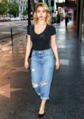 Caylee Cowan rocks a black top and ripped jeans while out in Hollywood, Los Angeles