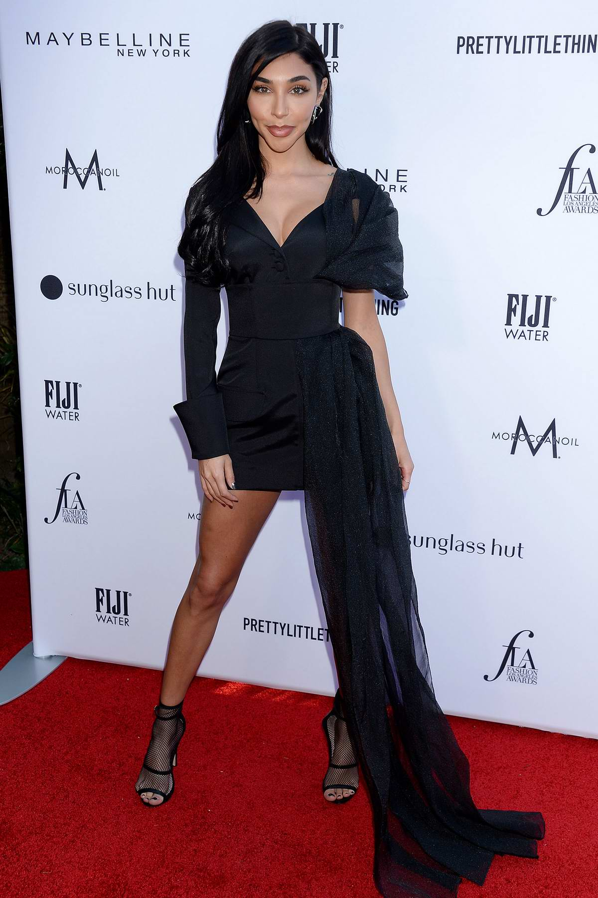 Chantel Jeffries attends The Daily Front Row's 5th Annual Fashion Awards 2019 at The Beverly Hills Hotel in Los Angeles