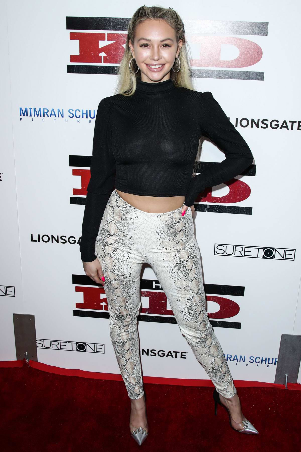 Corinne Olympios attends 'The Kid' Film Premiere at ArcLight Cinemas in Los Angeles