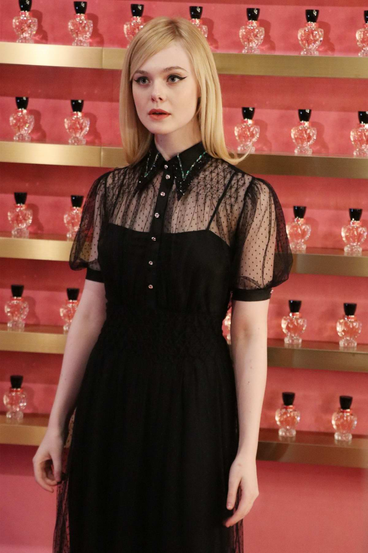 Elle Fanning attends a Miu Miu event in Shanghai, China