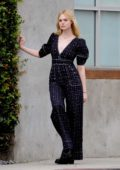 Elle Fanning seen while filming a music video for 'Teen Spirit' movie in Los Angeles