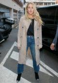 Ellie Goulding arrives at NRJ radio studios in Paris, France