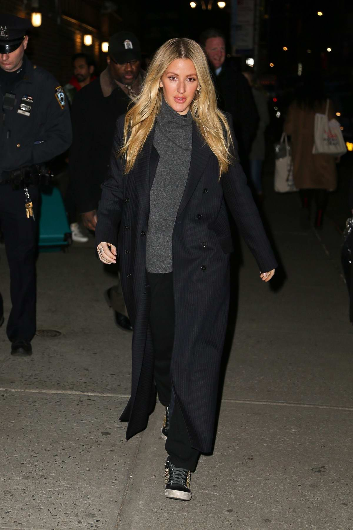 Ellie Goulding arrives for her appearance on 'The Late Show with Stephen Colbert' in New York City