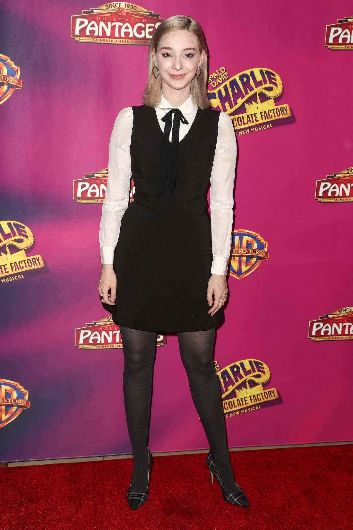 Emma Dumont attends 'Charlie And The Chocolate Factory' Los Angeles opening night in Hollywood, California