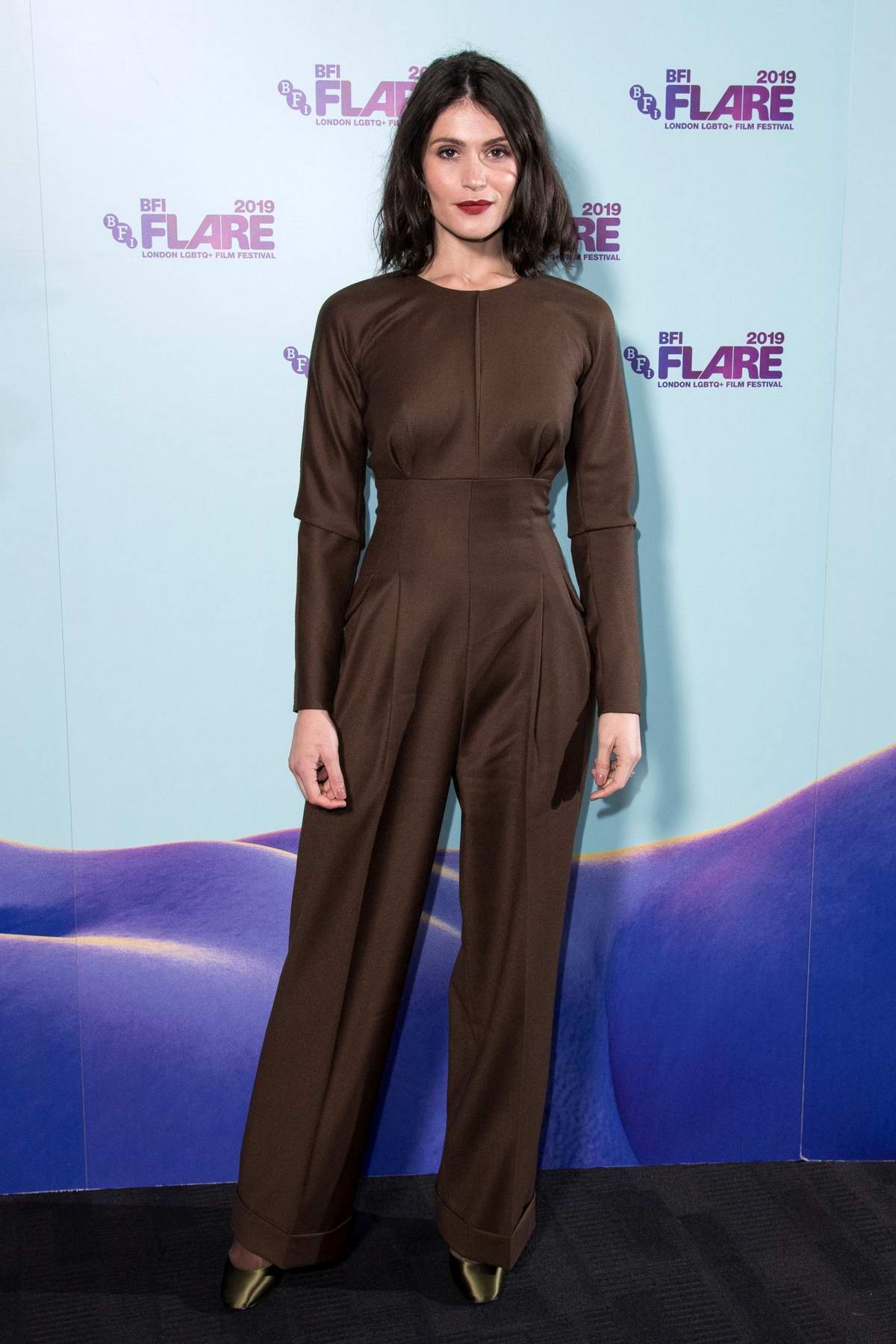 Gemma Arterton attends the 'Vita & Virginia' UK Premiere & Opening Night Gala of the 33rd BFI FLARE Film Festival in London, UK