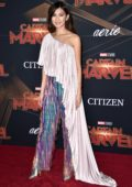 Gemma Chan attends the World Premiere of 'Captain Marvel' at the El Capitan Theatre in Hollywood, California