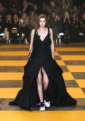 Gigi Hadid walks the runway at the Off-White Women's F/W 2019/20 Fashion Show during Paris Fashion Week in Paris, France