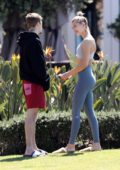 Hailey Baldwin and Justin Bieber get some fresh air and sunshine in Laguna Beach, California