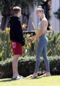 Hailey Baldwin and Justin Bieber get some fresh air and sunshine in Laguna Beach, California