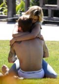 Hailey Baldwin and Justin Bieber share a very intimate moment while out at Newport Beach, California