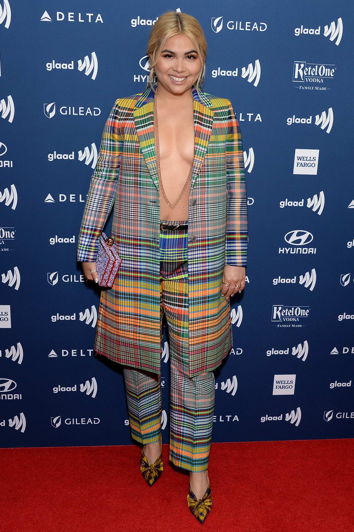 Hayley Kiyoko attends the 30th Annual GLAAD Media Awards at The Beverly Hilton Hotel in Beverly Hills, California