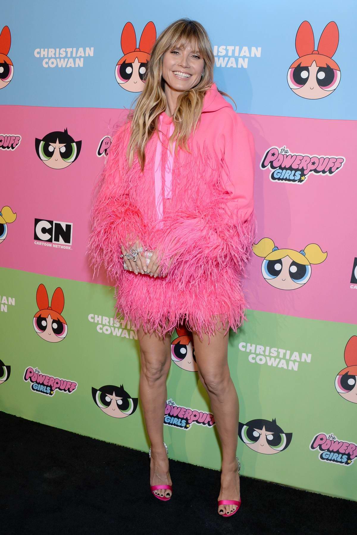 Heidi Klum attends Christian Cowan x Powerpuff Girls Runway Show in Los Angeles
