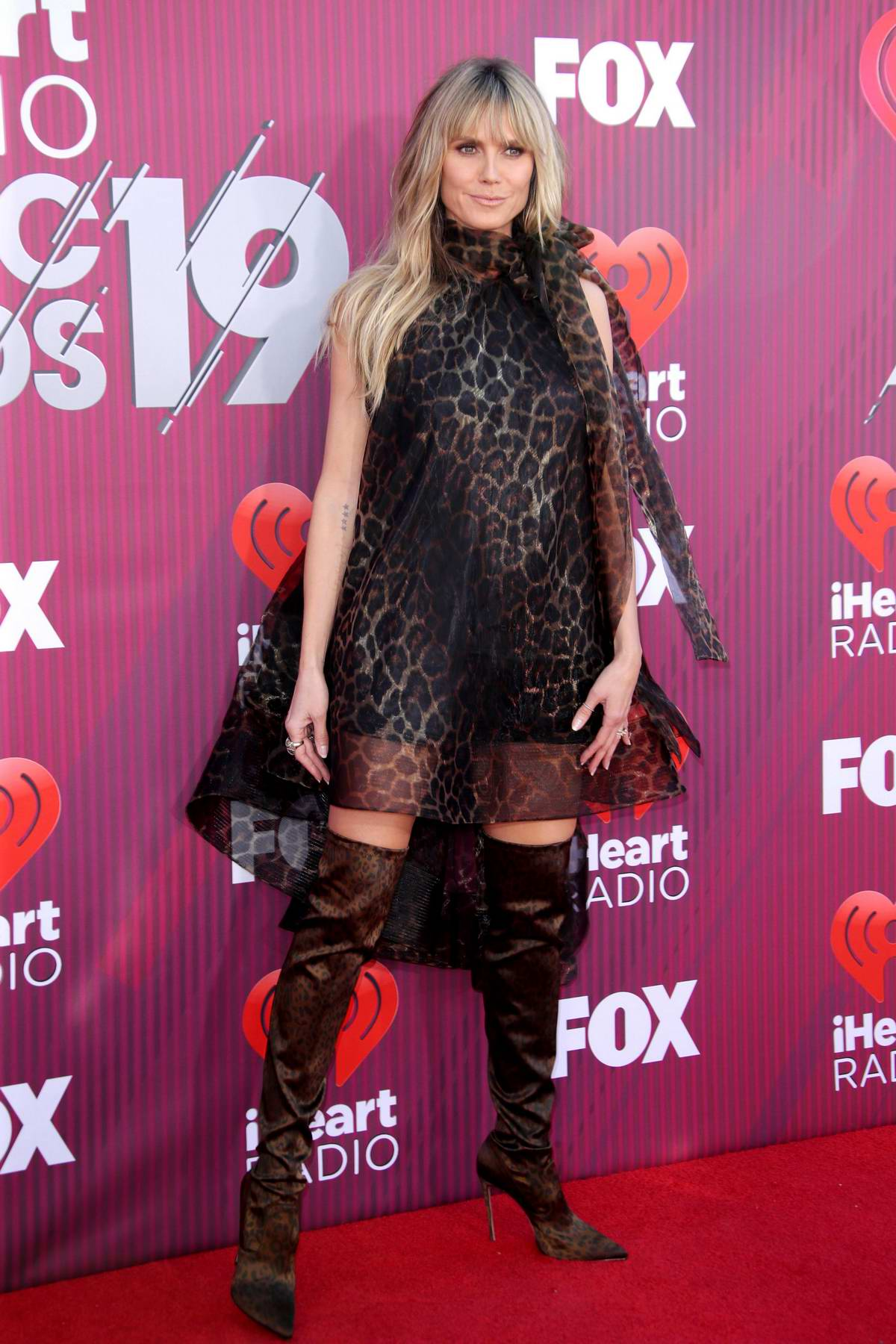 Heidi Klum attends the 2019 iHeartRadio Music Awards at Microsoft Theater in Los Angeles