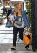 Hilary Duff is all smiles as she leaves a nail spa in West Hollywood, Los Angeles