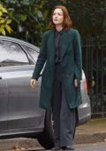 Holliday Grainger seen on set of 'The Capture' in London, UK