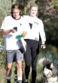 Ireland Baldwin and Corey Harper enjoys a day out at the park in Los Angeles