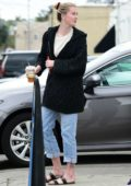 Ireland Baldwin and Corey Harper grab lunch with friends at Sweet Butter Kitchen in Studio City, Los Angeles