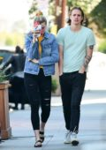 Ireland Baldwin and Corey Harper steps out for lunch in Los Angeles