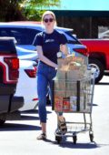 Ireland Baldwin stocks up on groceries at Whole Foods Market in Los Angeles