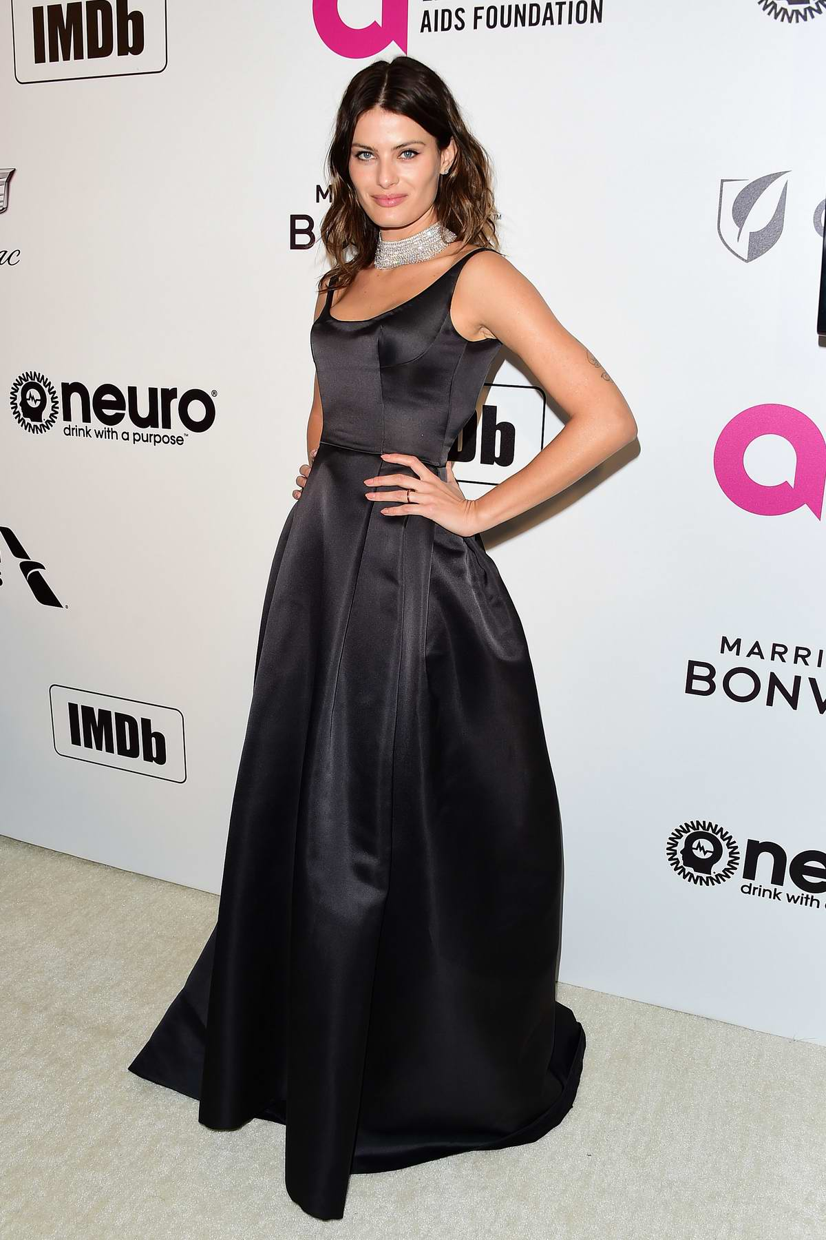Isabeli Fontana attends the 27th Annual Elton John AIDS Foundation Academy Awards Viewing Party in West Hollywood, Los Angeles