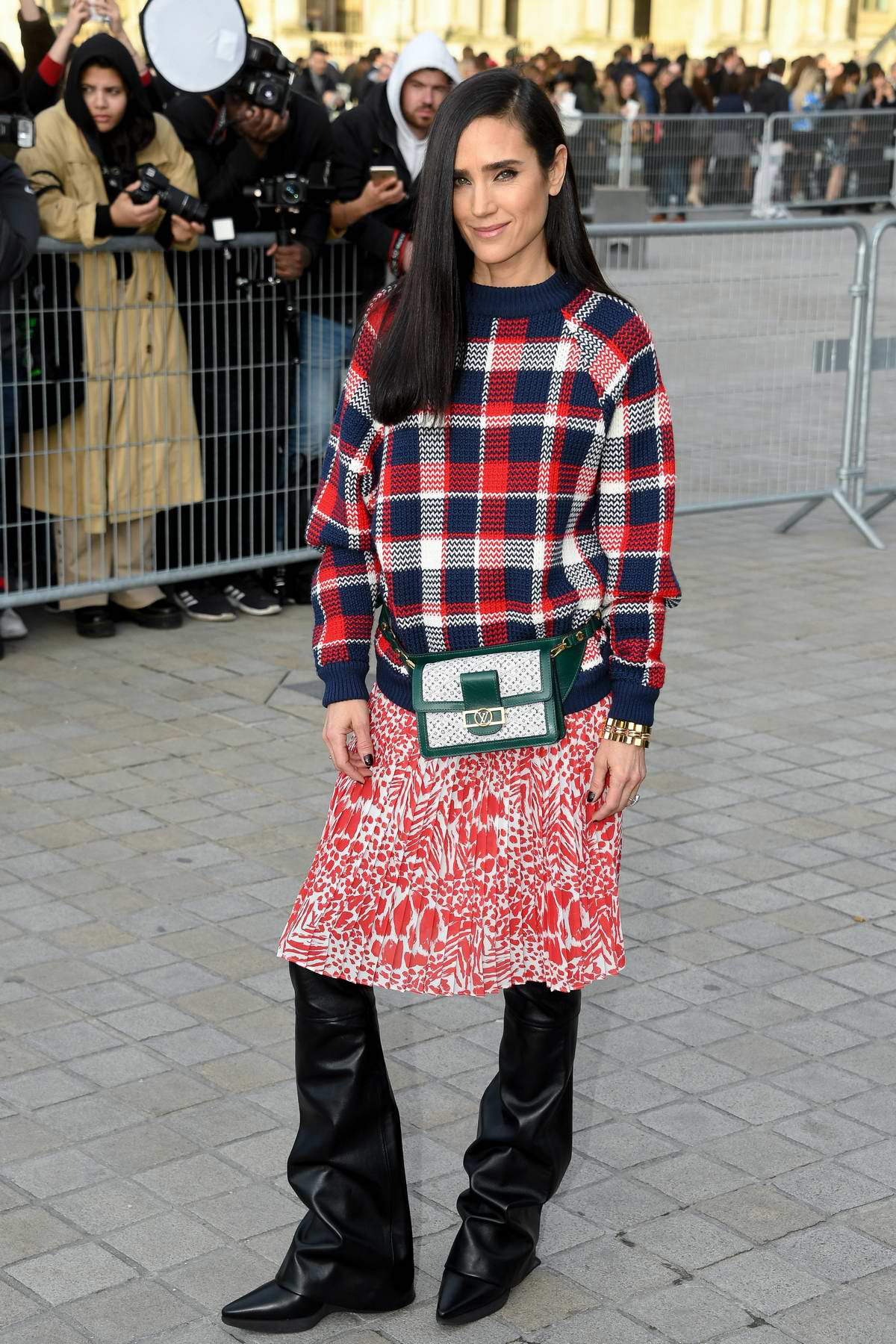 Jennifer Connelly attends the Louis Vuitton show during Paris Fashion Week F/W 2019/20 in Paris, France