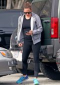 Jennifer Garner seen moving an orange cone as she leaves her boxing practice in Los Angeles
